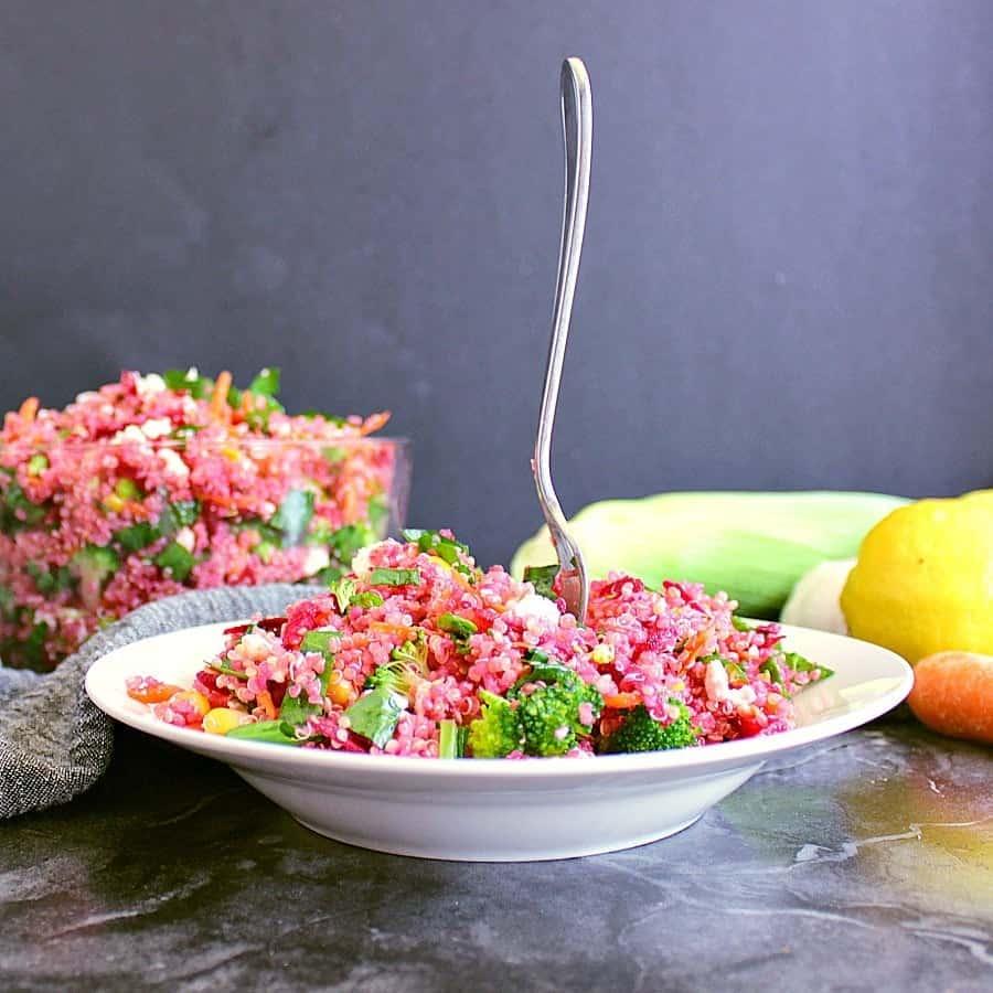 Loaded Veggie Quinoa Salad - Mama Bear's Cook Book