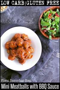 Pin these low carb mini meatballs recipe for later!