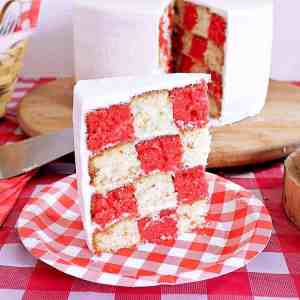 Impress your friends and family with this deceivingly easy Super Cool Picnic Party Cake that is perfect for birthday parties or picnic themed barbecues.