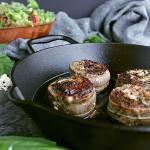 Pin this prosciutto pesto feta stuffed flank steak recipe for later!