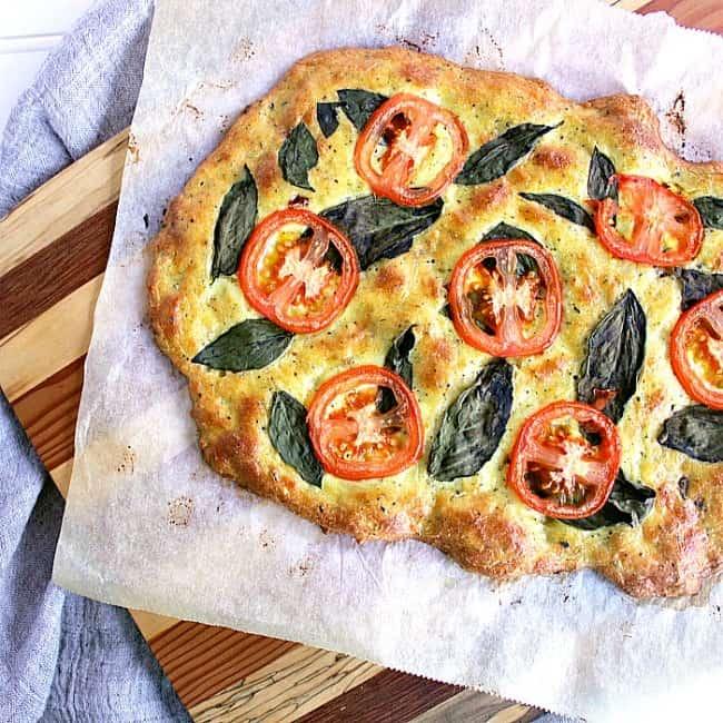 Whole tomato basil low carb flatbread.