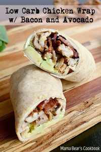 Pin this low carb chicken wrap recipe for later!