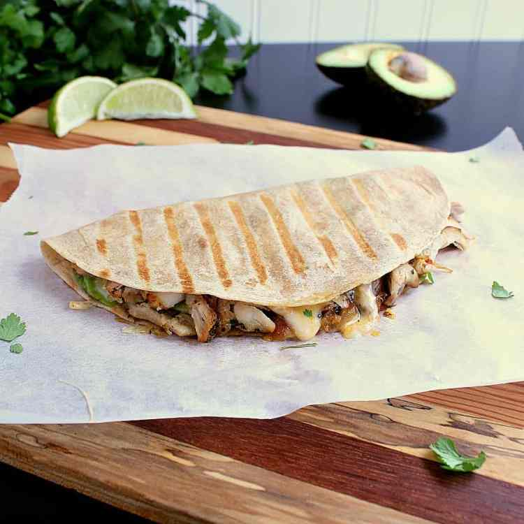 Low Carb Quesadilla fresh off the grill.