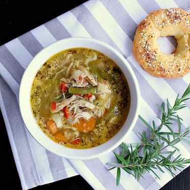 Instant pot low carb chicken vegetable soup.