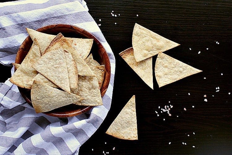7 Minute Low Carb Baked Tortilla Chips.