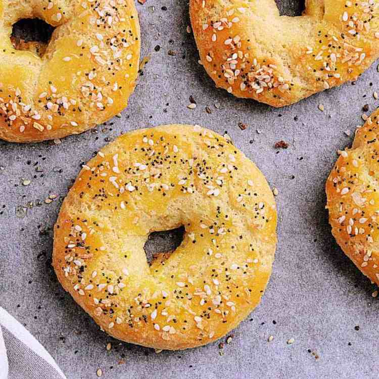 Switch up breakfast with a cream cheese loaded Low Carb Everything Bagel or make some delicious sandwiches for lunch. They are fun and easy to create!