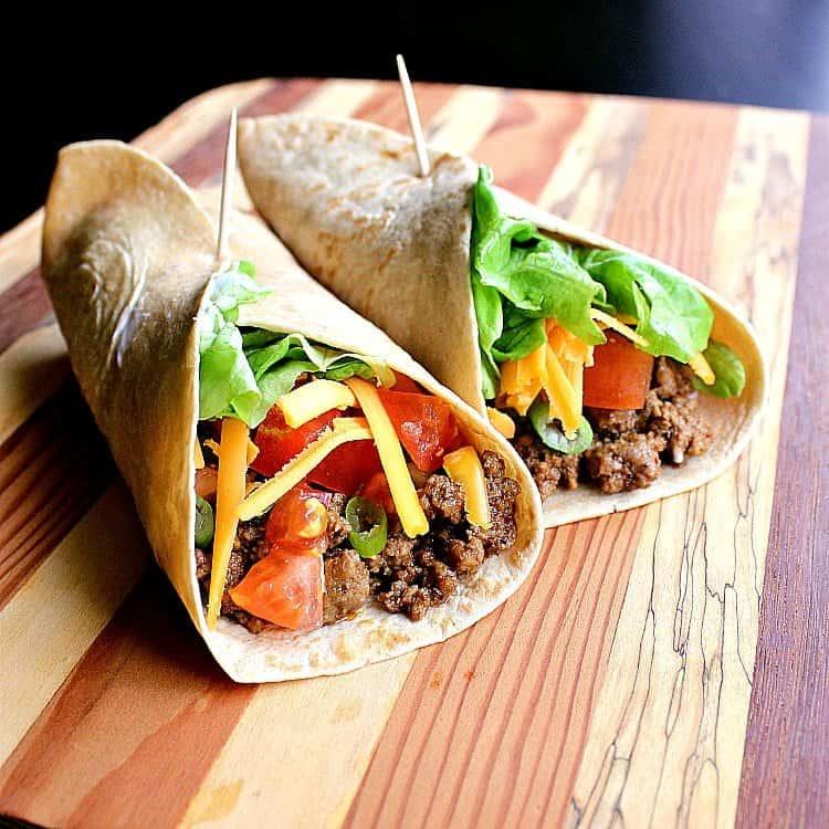 Low Carb Beef Burritos.