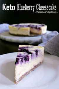Pin this Keto Blueberry Cheesecake recipe for later!