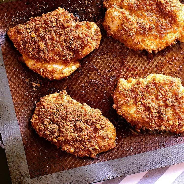 Crispy Keto Chicken Burger - Mama Bear's Cookbook