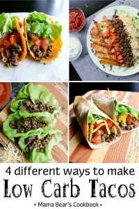 Pin this 4 ways to make low carb tacos recipe for later!