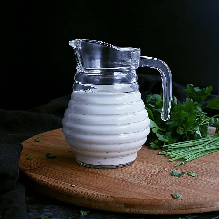 Jar of Low Carb Ranch Dressing.