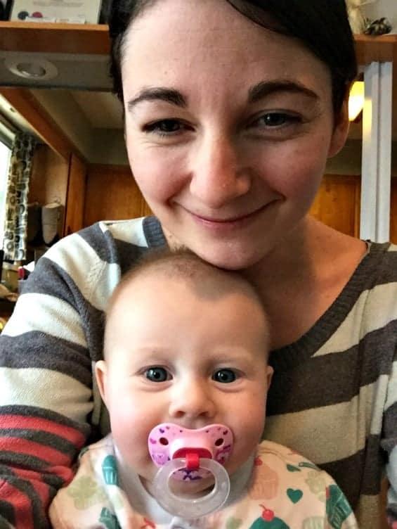 Little Addie with Aunty Terri.
