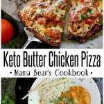 Pin this Keto Butter Chicken Pizza recipe for later!