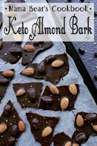 Pin this keto almond bark recipe for later!