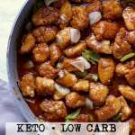 Pin this keto sweet and sour chicken recipe for later!