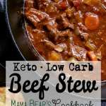 Pin this low carb beef stew recipe for later!