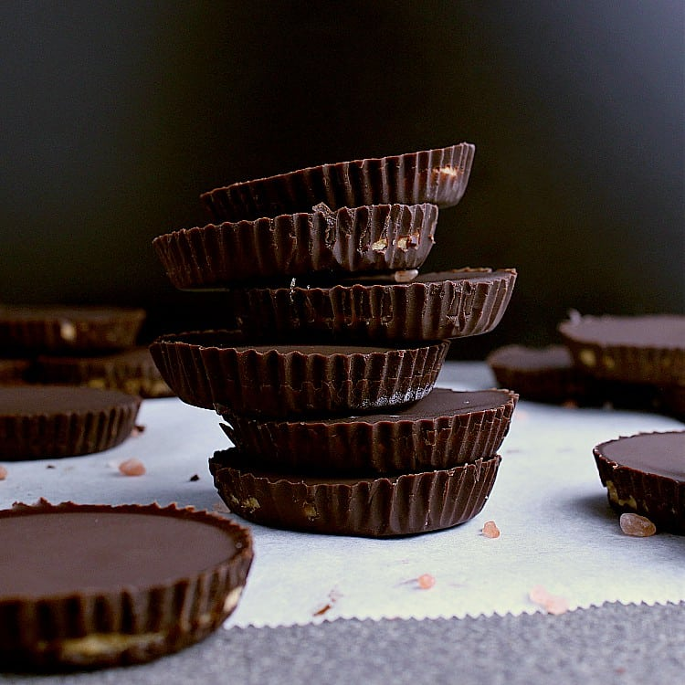 A stack of Keto Peanut Butter Cups.