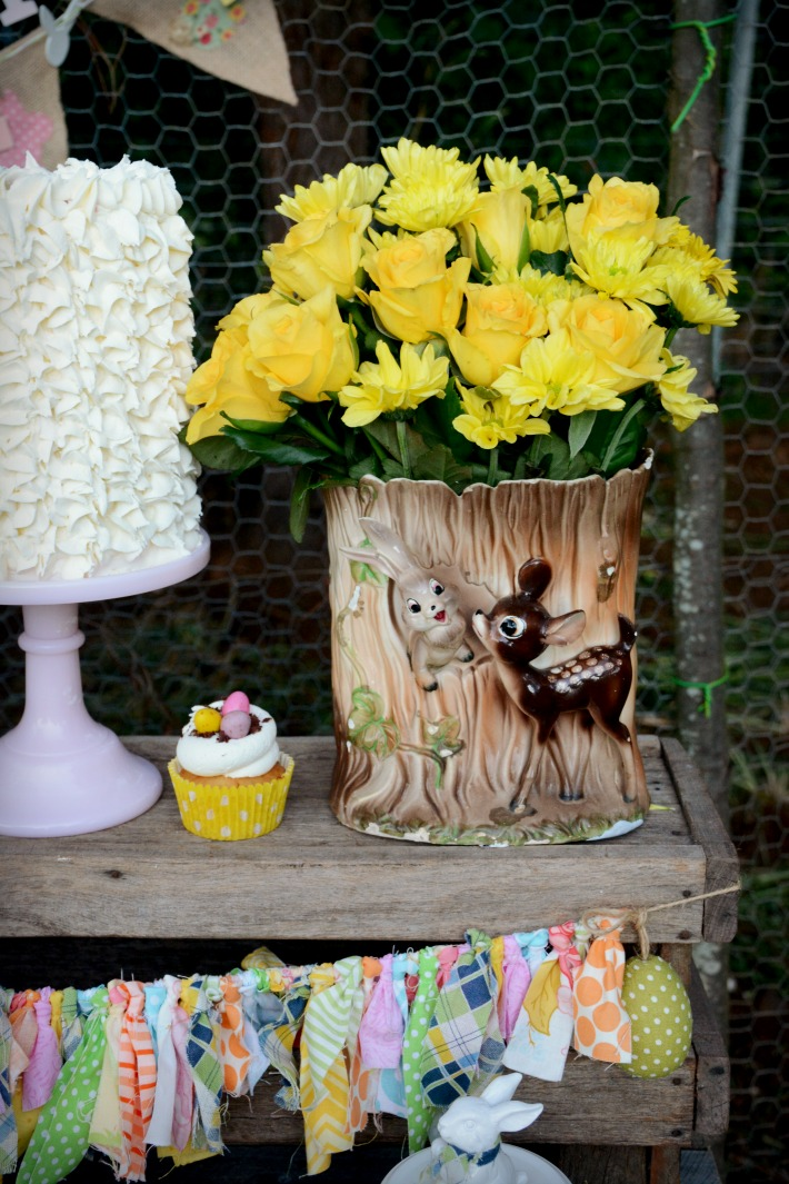 Rustic Easter table