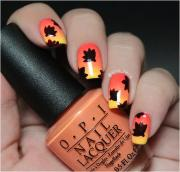 cute and easy thanksgiving nail