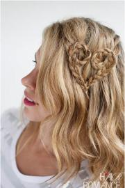 adorable heart-shaped hairstyles