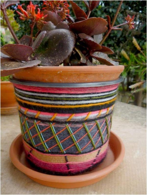 Decorate Plastic Flower Pot