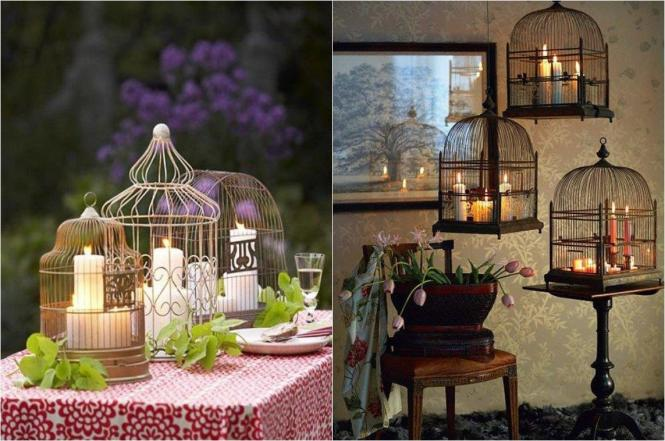 Decorating Bird Cages With Flowers Vintage Cage Ideas