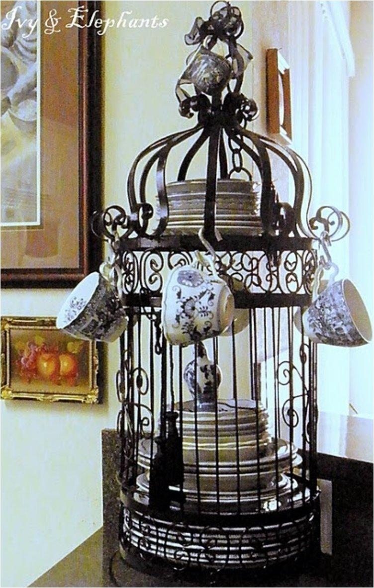 Give Your Home A Chic Decor By Reusing Your Old Bird Cage