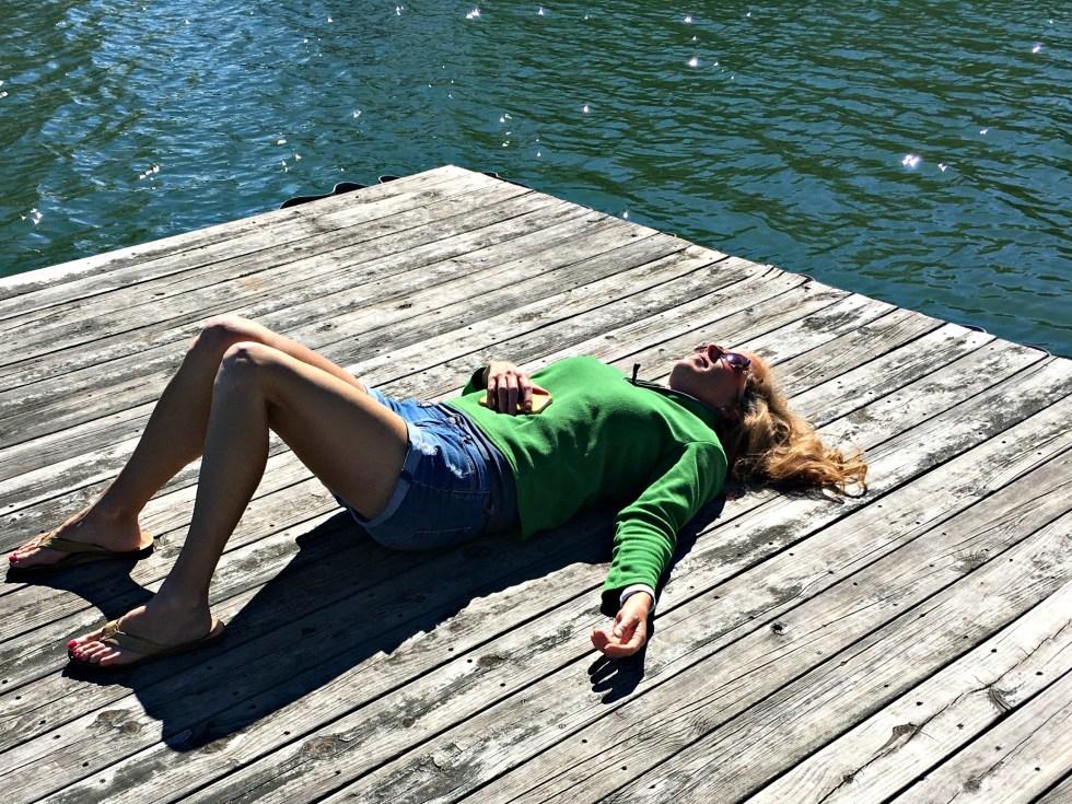 Nap on the Dock - baseball