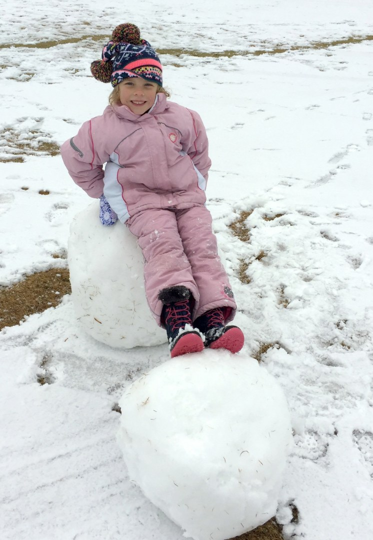 Snowman in the Making