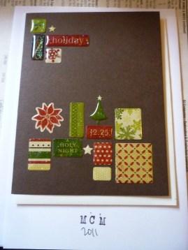 Christmas Card series - Word Mosaic
