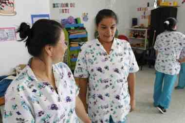 Profesoras del jardín de infancia de Guayatá