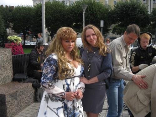 """Светлана Голко и Мариэль Волкова на съемке клипа на песню """"Желаю счастья"""""""