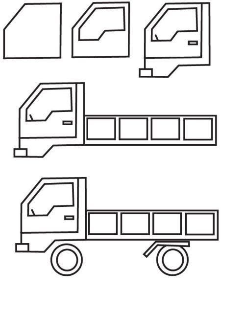 учимся рисовать грузовик