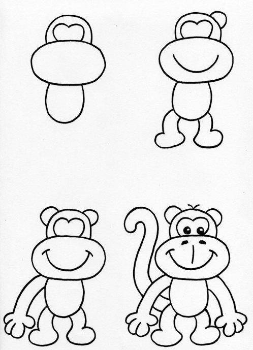 рисуем обезьянку