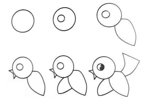 рисуем птичку 2