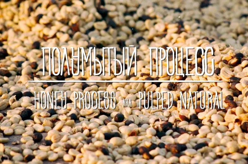 Полумытый способ обработки кофе или хани процесс