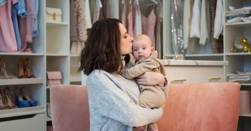 organizing baby's closet