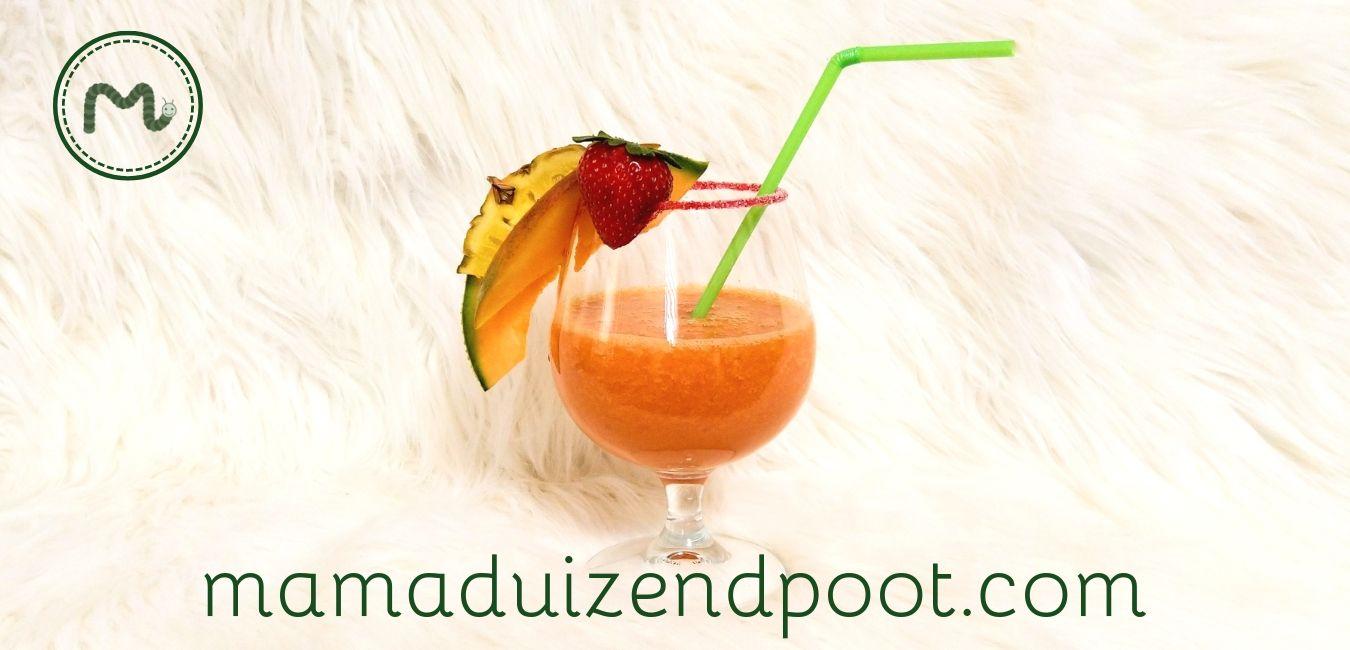 een gezonde mocktail (of cocktail)