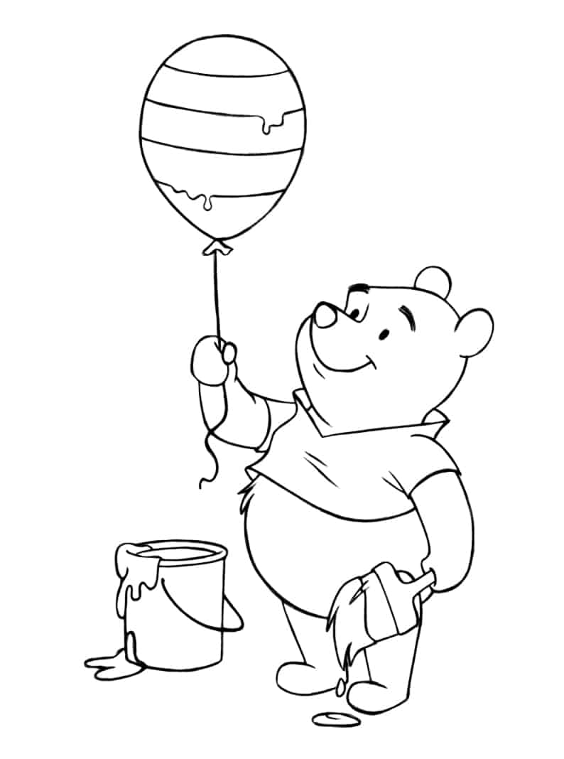 Free Printable Easter Winnie the Pooh Coloring Pages