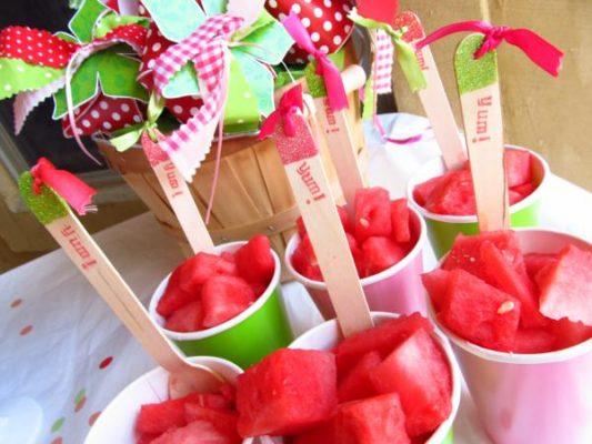 copo com melancia - festa turma da mônica