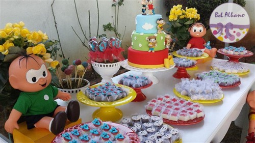 Decoração da Turma da Mônica para aniversário