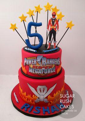 bolo de aniversário Power Rangers dois andares