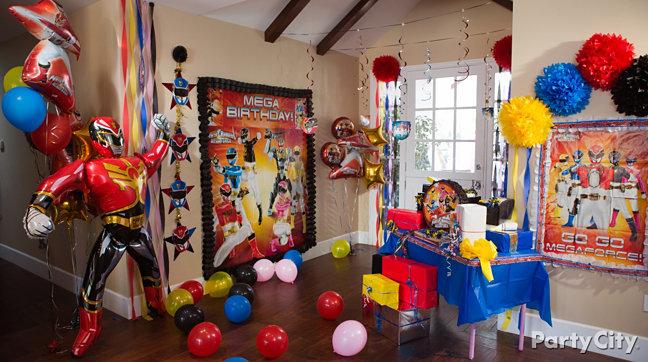 decoração de aniversário Power Rangers