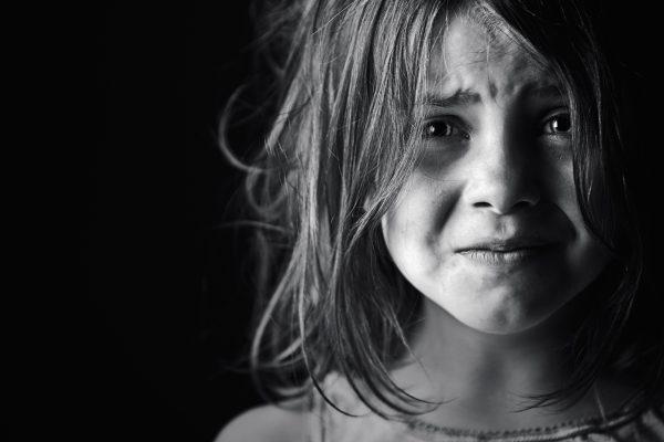 Sad Young Blonde Child