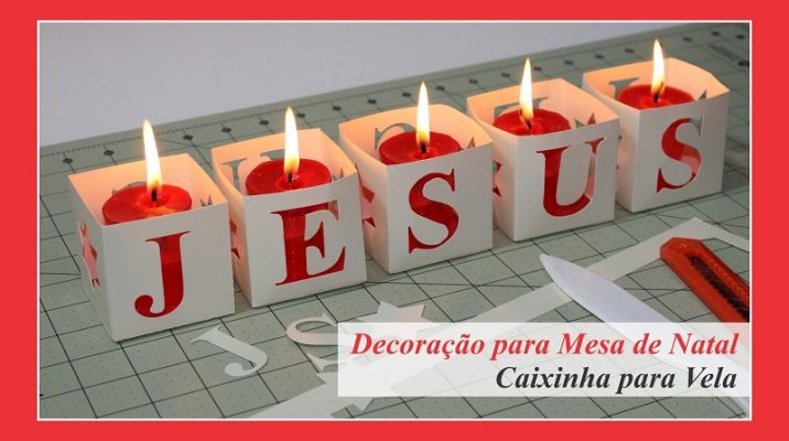 caixinha para velas jesus
