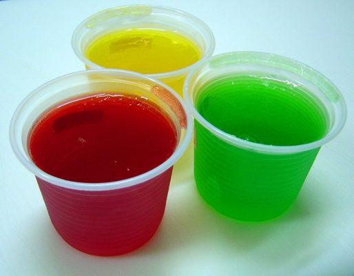 alimentos proibidos para crianças - gelatina