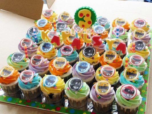 cupcakes dos Power Rangers