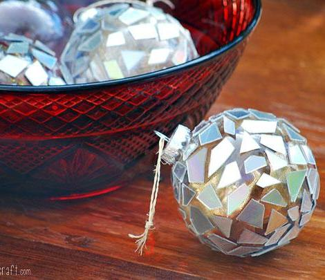 O efeito final nas bolas de Natal