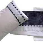 Jogo de lençol com detalhe azul