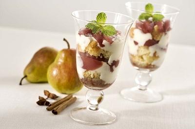 Trifle de peras